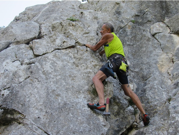 New route in Ponze (Umbria)